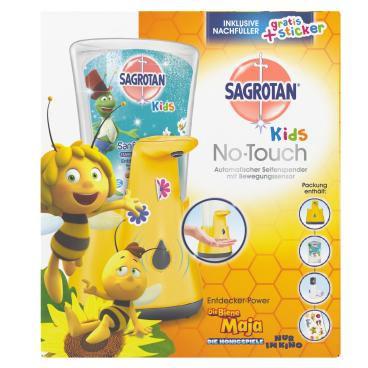 SAGROTAN No Touch Kids Automatischer Seifenspender + Nachfüller Inklusive Stickerbögen