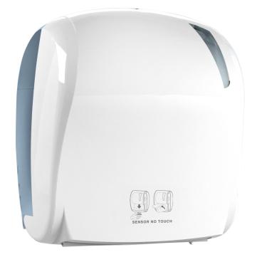 racon® skin easy sensor Handtuchrollenspender, transparent/weiß