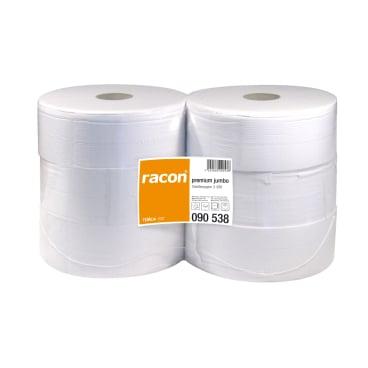 racon® premium jumbo Toilettenpapier, 2-lagig, weiß