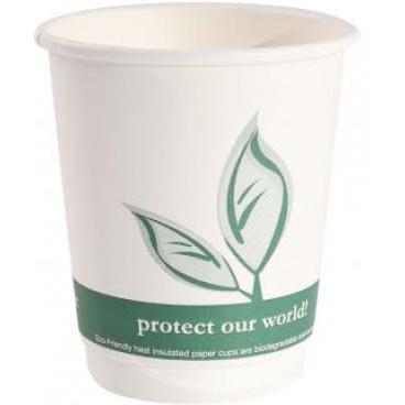 NATURESTAR Bio- Kaffeebecher aus Pappe 1 Packung = 25 Stück, 300 ml