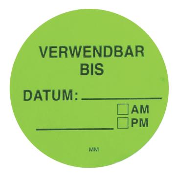 HYGOSTAR Verwendbar bis Etikett, grün