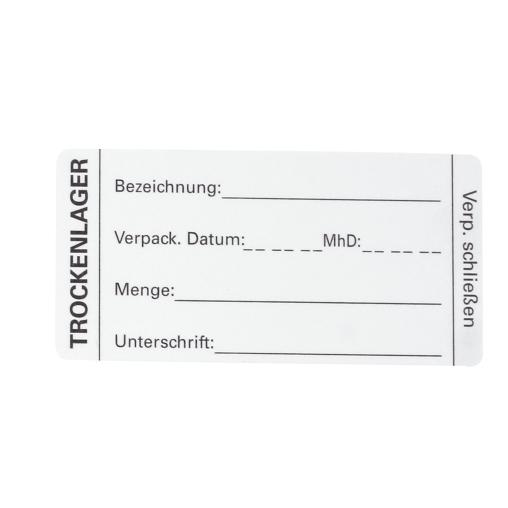 HYGOSTAR Trockenlager Etikett
