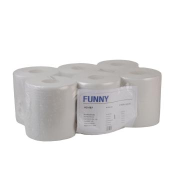 Rollenhandtuchpapier, 1-lagig, weißlich 1 Palette = 55 Pakete = 330 Rollen