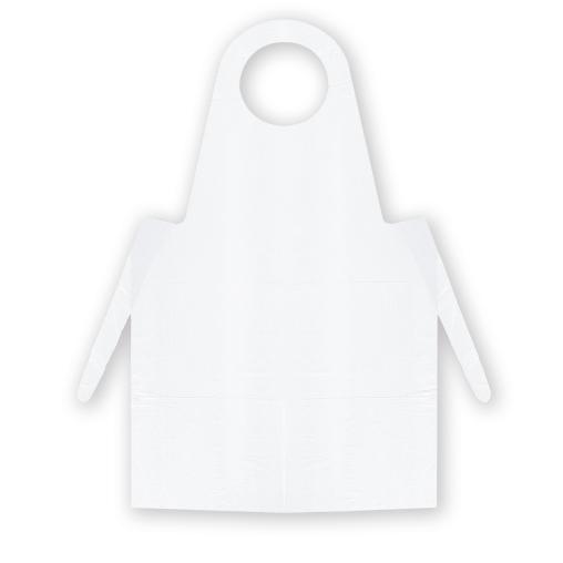 Meditrade PE-Einmalschürze, weiß, geblockt