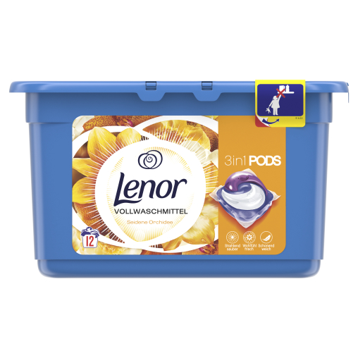 Lenor 3in1 PODS Vollwaschmittel Seidene Orchidee