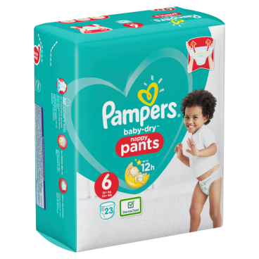 Pampers Baby Dry Pants Extra Large Windeln 15+ kg, Größe 6