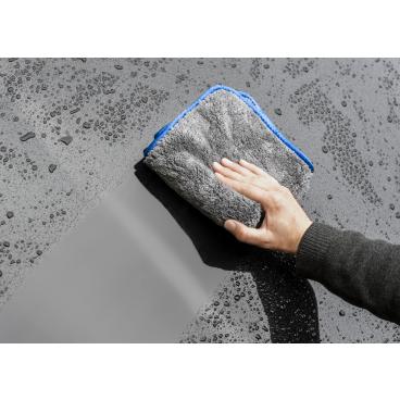MEGA Clean Professional MEGA Flausch Plus Mikrofasertuch 1 Stück, Farbe: grau / blau