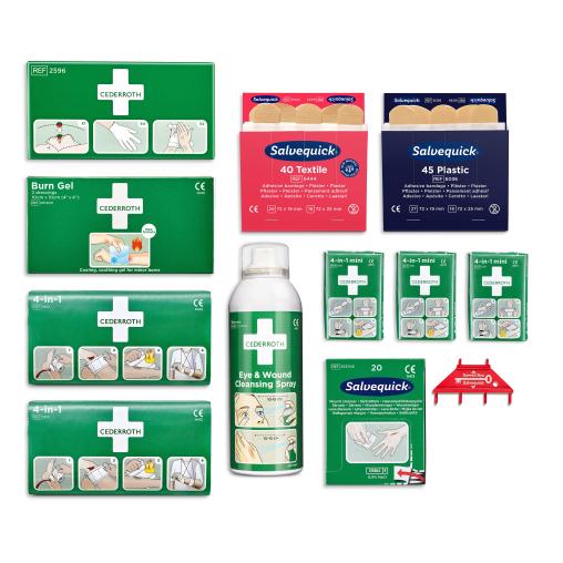 Cederroth First Aid Station Erste-Hilfe-Station Nachfüllpaket