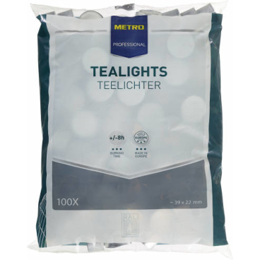 Tealights Teelichter 1 Beutel = 100 Stück