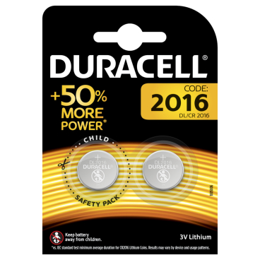 DURACELL Lithium 2016 Knopfzelle – 3 V