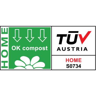 TSP Bio Müllbeutel, 30 Liter, 100% heim-kompostierbar, 50 x 57 cm 1 Rolle à 10 Müllbeutel