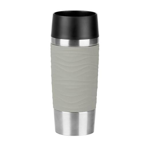 EMSA Travel Mug Waves Isolierbecher mit Quick-Press Verschluss
