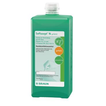 B. Braun Softasept® N Hautdesinfektionsmittel, gefärbt 1000 ml - Flasche