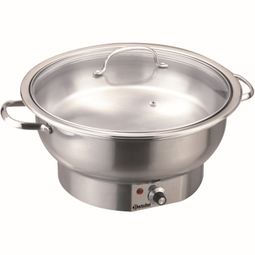 Bartscher Chafing Dish Speisenwärmer, rund, 3,8 Liter
