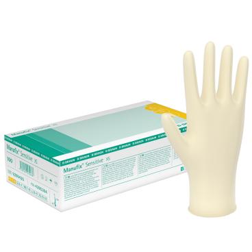 """B. Braun Manufix® Sensitive - Einmalhandschuhe Größe """"XS"""" (5-6)"""