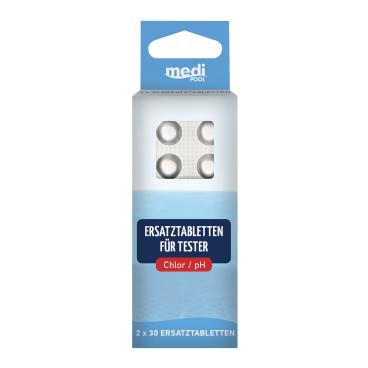 mediPOOL Ersatztabletten für Tester pH/Chlor