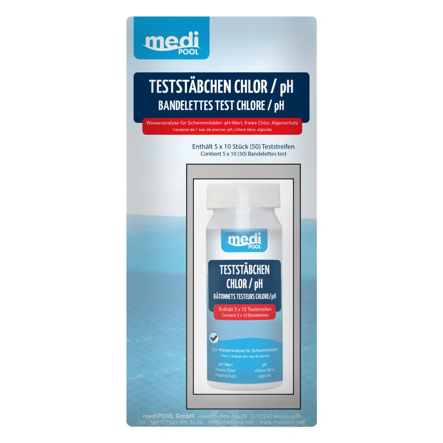 Medipool Teststabchen 1 Dose 50 Stuck Chlor Ph Wert Messung
