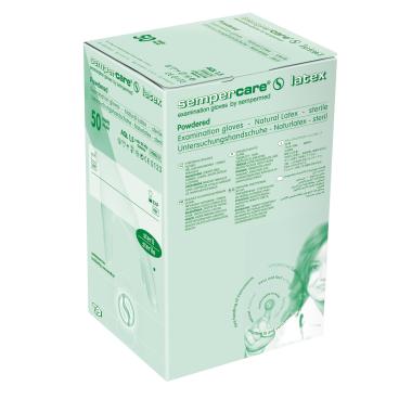 Sempercare® latex Untersuchungshandschuh, gepudert