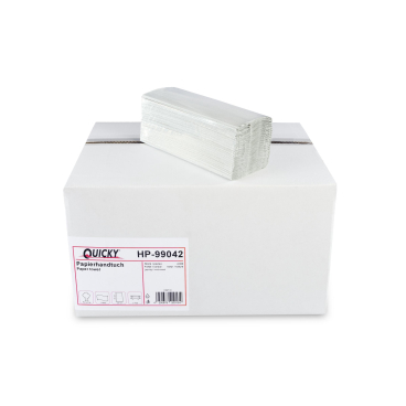 Papierhandtücher, 24,5 x 31 cm, 1-lagig, hellgrau