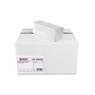 Papierhandtücher, 24,5 x 31 cm, 1-lagig, hellgrau 1 Palette = 32 Karton