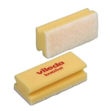 Vileda Professional Padschwamm Non-Scratch 1 Packung = 10 Stück, gelb