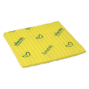 Vileda Professional Breazy Kurzzeittuch, 35 x 35,5 cm 1 Packung = 25 Stück, gelb