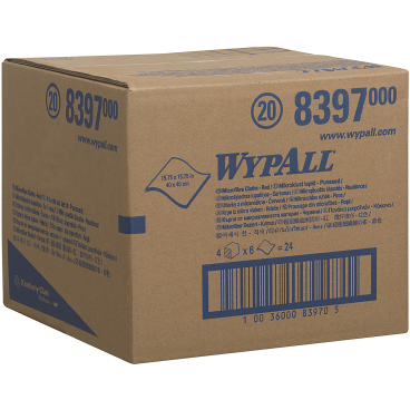 WYPALL* Mikrofaser-Allzwecktücher 1 Karton = 4 Boxen á 6 Tücher, rot
