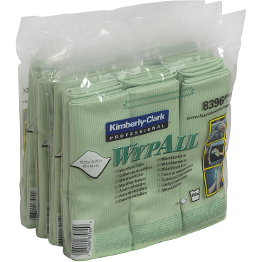 WYPALL* Mikrofaser-Allzwecktücher 1 Karton = 4 Boxen á 6 Tücher, grün