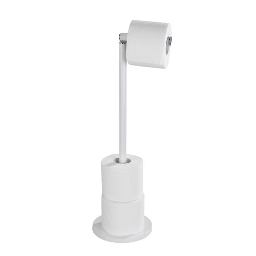 WENKO Stand Toilettenpapierhalter 2 in 1, weiß