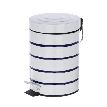WENKO Marine Kosmetik Treteimer weiß, 3 Liter