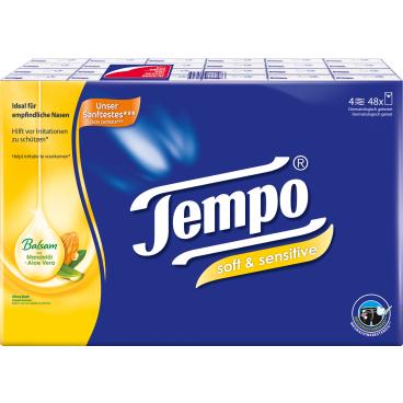 Tempo Soft & Sensitive Taschentücher