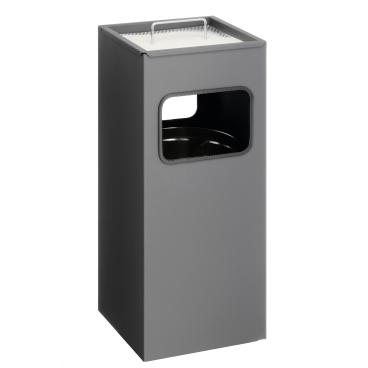 DURABLE Papierkorb mit Ascher, eckig, 17 Liter