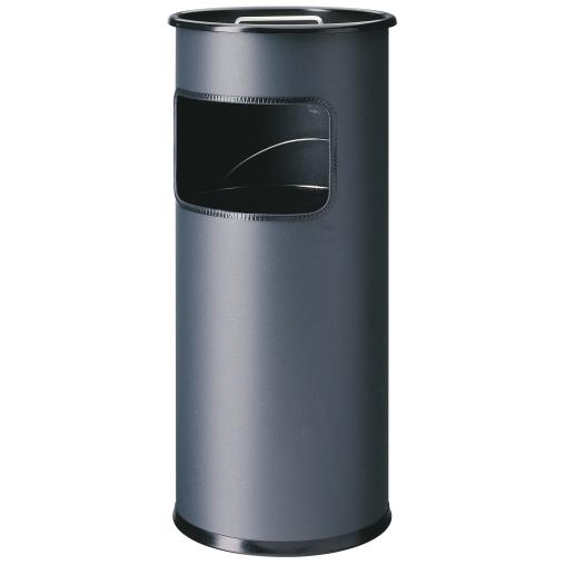 DURABLE Papierkorb mit Ascher, rund, 17 Liter