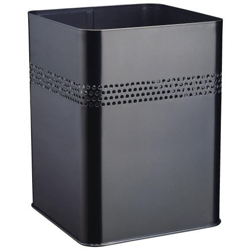 DURABLE Papierkorb aus Stahl, eckig, 165 mm 18,5 Liter