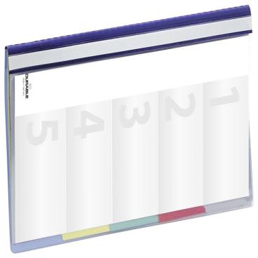 DURABLE Divisoflex® Organisationshefter 1 Packung = 5 Stück, blau