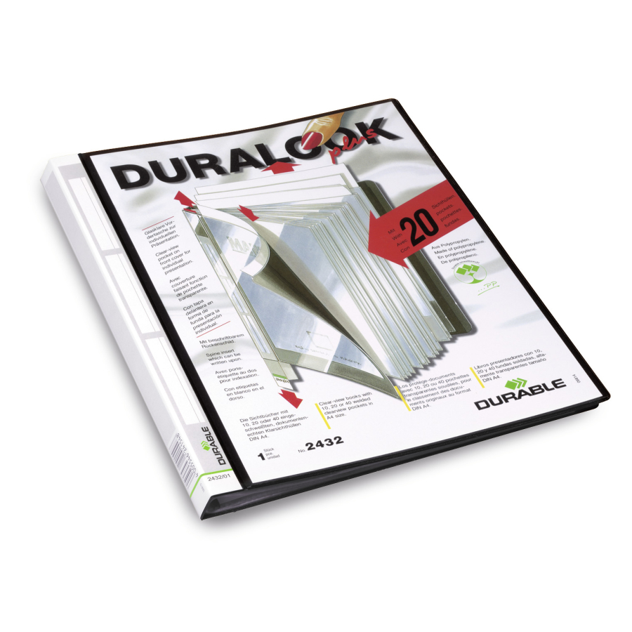 Durable Sichthüllenmappe A4 Sichtbuch Mappe Präsentationsmappe DURALOOK® II