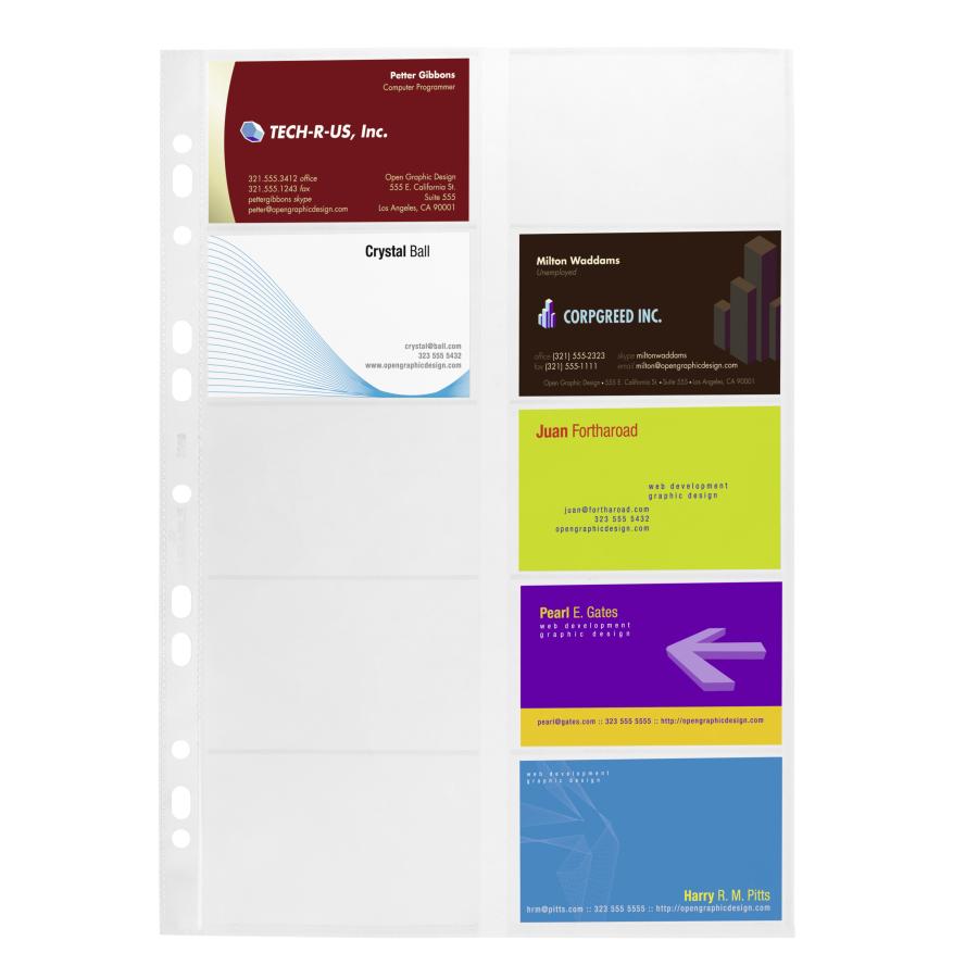 Durable Visitenkartenhüllen Din A4