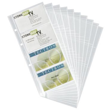 DURABLE Ersatzhüllen für Visifix® Visitenkartenalbum