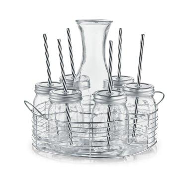 Zeller Glaskaraffe-/ Gläser-Set