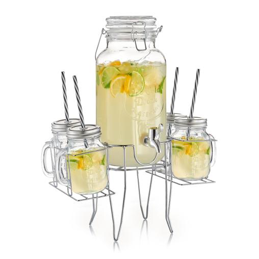 Zeller Getränkespender-/ Gläser-Set