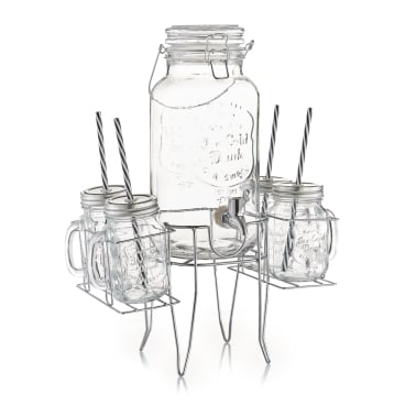 Zeller Getränkespender-/ Gläser-Set 1 Set