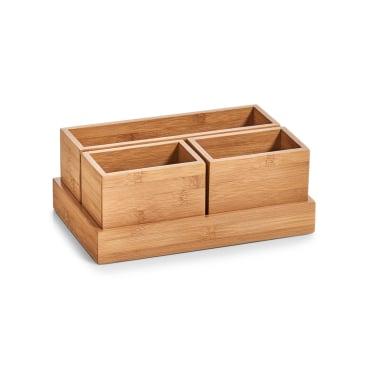 Zeller Bamboo Organizer-Set, 28 x 17,7 x 11 cm, 4-teilig