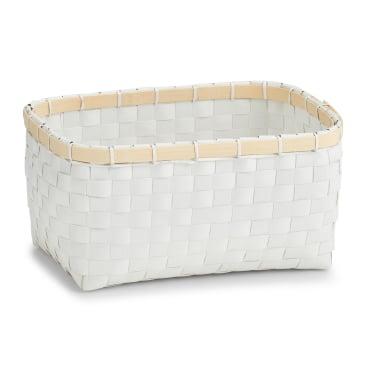Zeller Bamboo Aufbewahrungskorb, weiß
