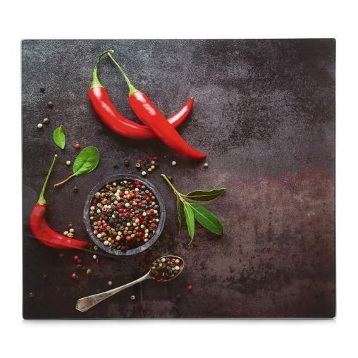 Zeller Chili Herdblende-/Abdeckplatte, 56 x 50 cm