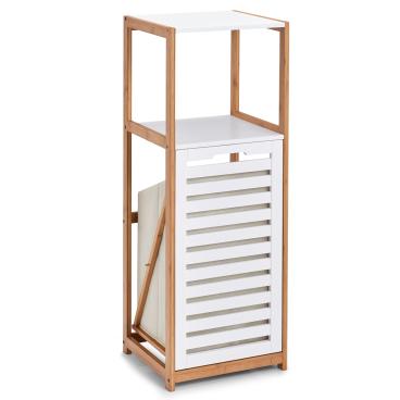 Zeller Standregal mit 2 Böden und Wäschesammler