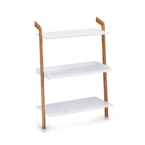 Zeller Leiter-Regal mit 3 Böden, 56 x 23 x 51 cm
