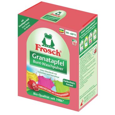 Frosch Granatapfel Bunt-Waschpulver 1,35 kg - Packung, für ca. 18 Waschladungen