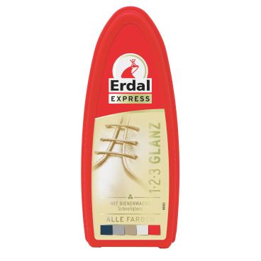 Erdal 1-2-3 Glanz-Schwamm mit Bienenwachs