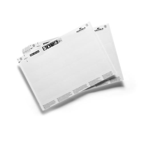DURABLE Label Refill Einsteckschilderbogen, A5