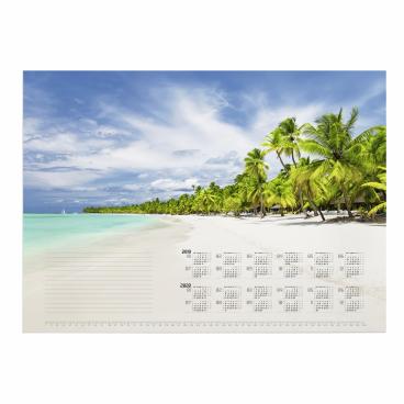 DURABLE Kalenderblock, 570 x 410 mm Motiv: Tropical Beach